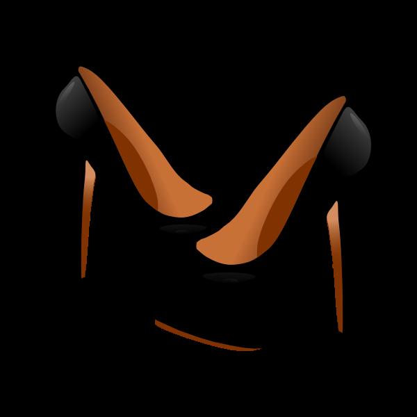Vector graphics of black high heel ladies shoe