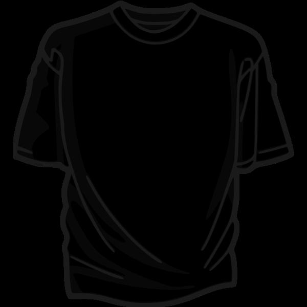 Black t-shirt vector illustration