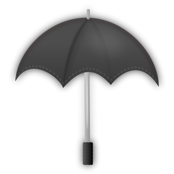 Vector clip art of grayscale umbrella