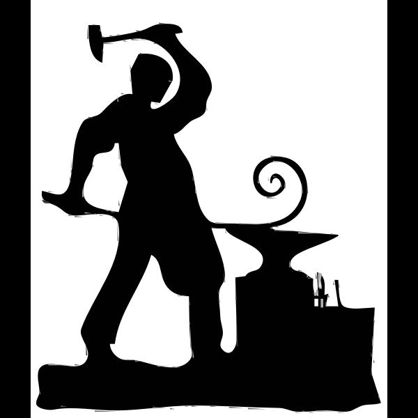Blacksmith silhouette