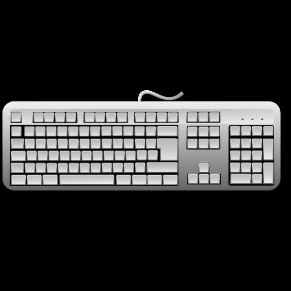 Blank generic keyboard vector image