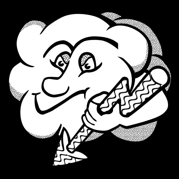 Mr Thunderbolt cloud vector image