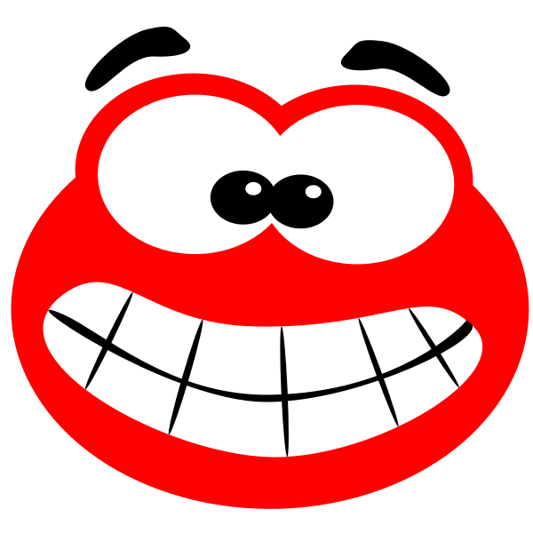 Vector image of big mouth smiling blob
