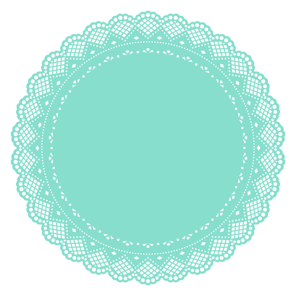 Vector image of doily