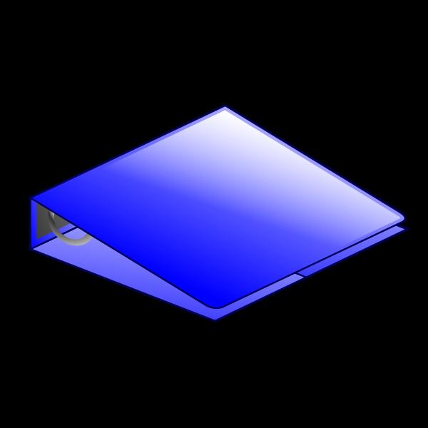 Blue 3 ring binder