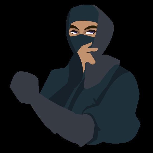 Blue-eyed ninja