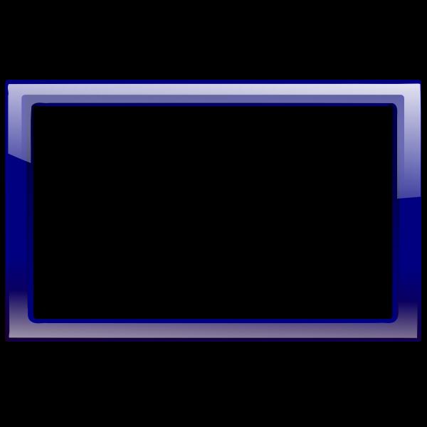 Gloss transparent blue frame vector graphics