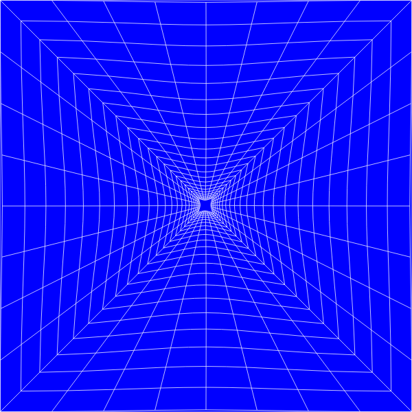 Blue Perspective Grid Distorted 4