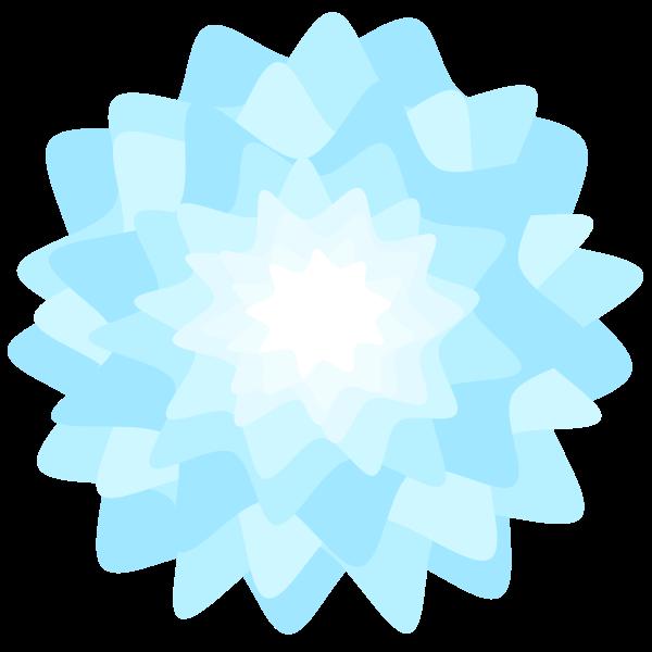 Blue floral design