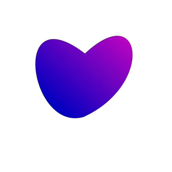Blue and Pink Heart