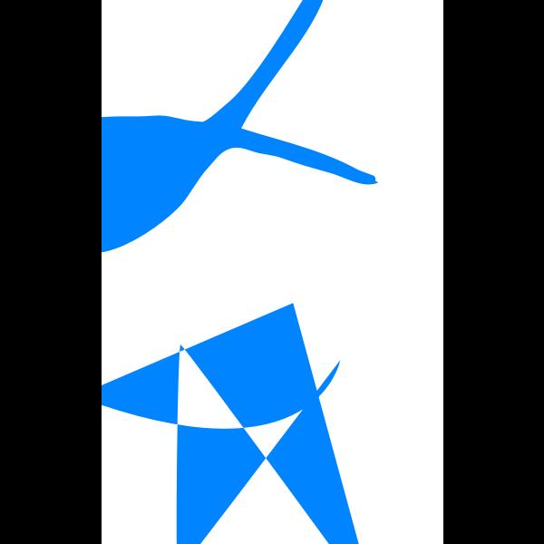 Blue fits vertical composition