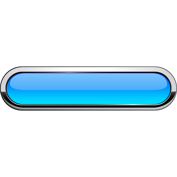 Thick grayscale border blue button vector image