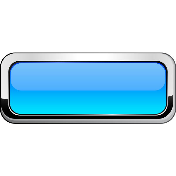 Thick grayscale border light blue button vector illustration