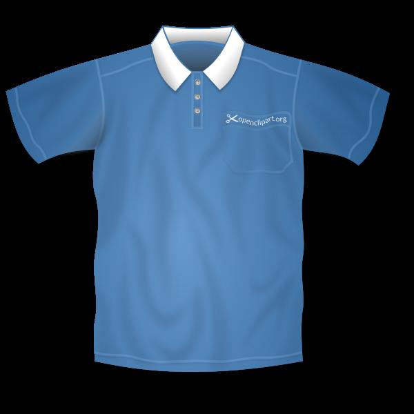 Polo shirt vector drawing