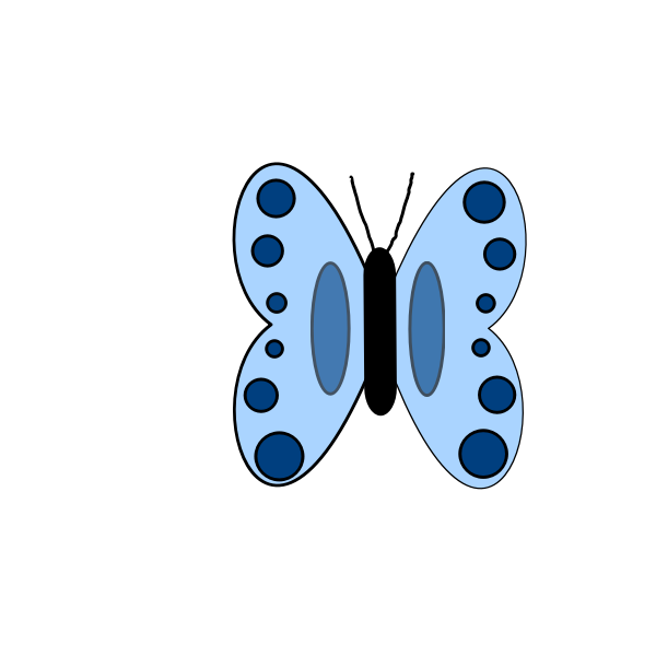 Butterfly vector drawing