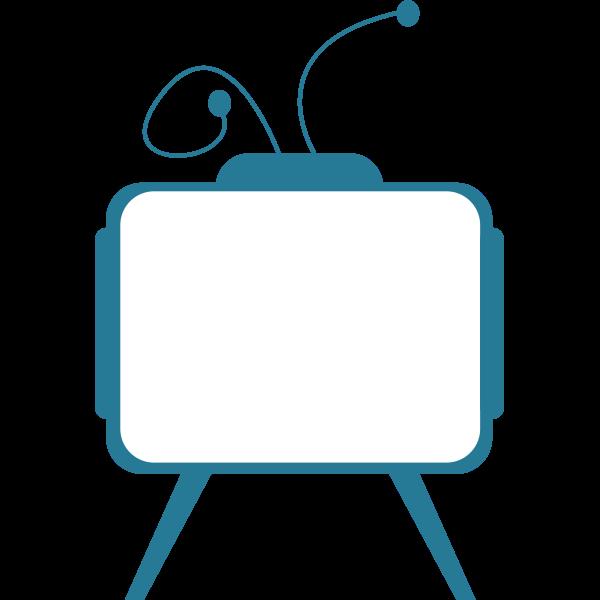 Blue TV receiver vector image