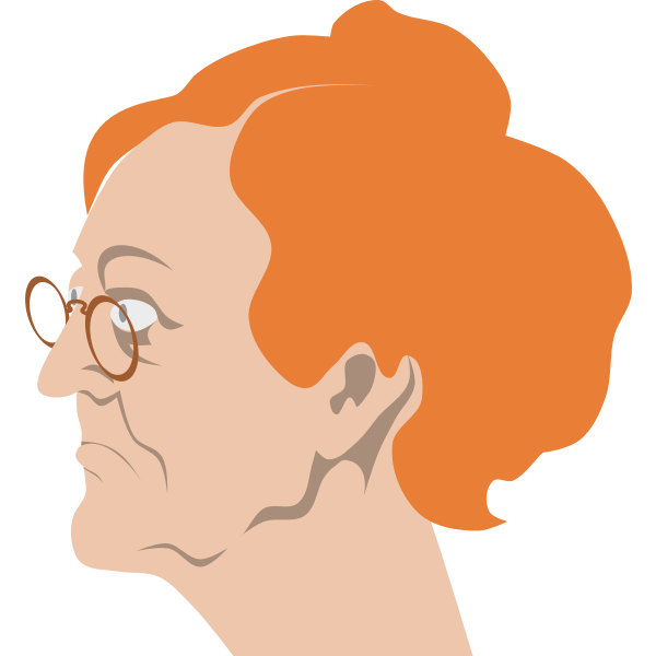 Old woman with glasses vector clip art