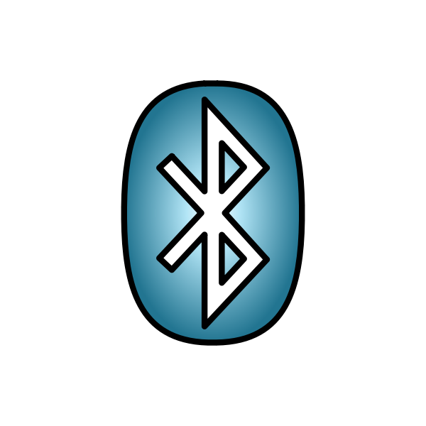 Bluetooth Icon light blue