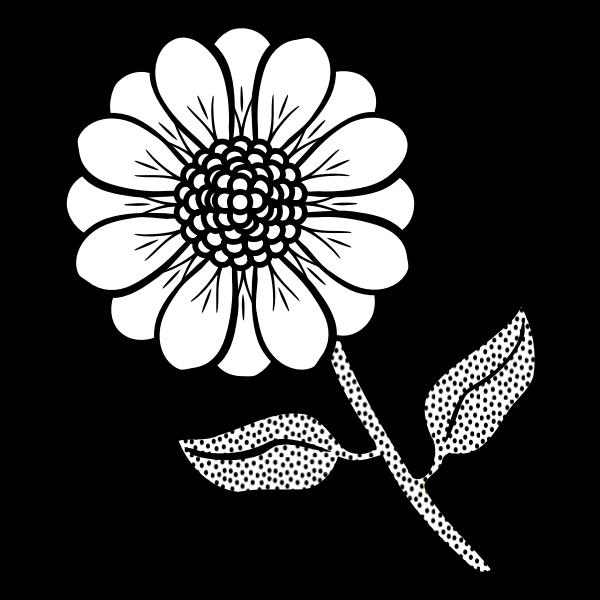 Vector drawing of spotty stem flower