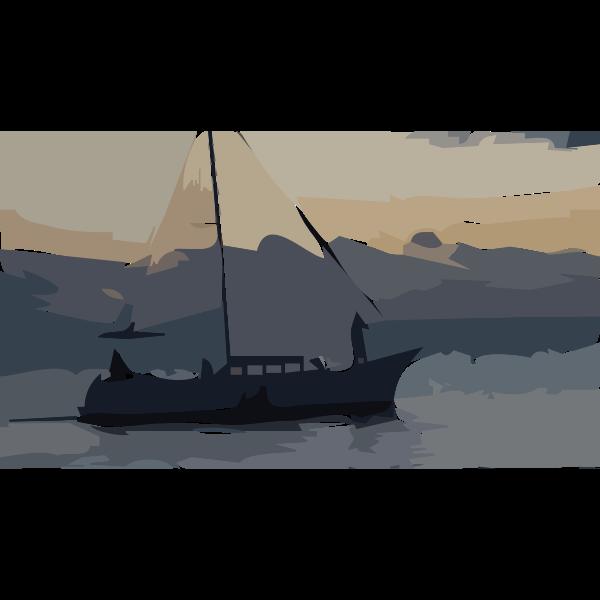 Boat at night 2016020721