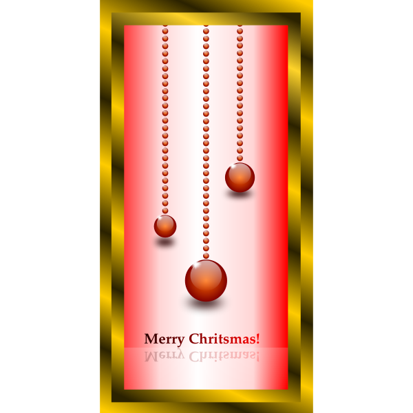 Vector graphics of brown and red themed Christmas card