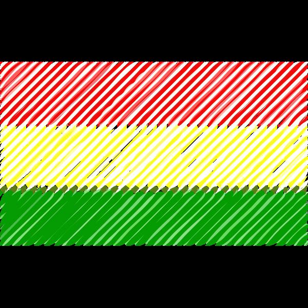Bolivia flag linear 2016082936