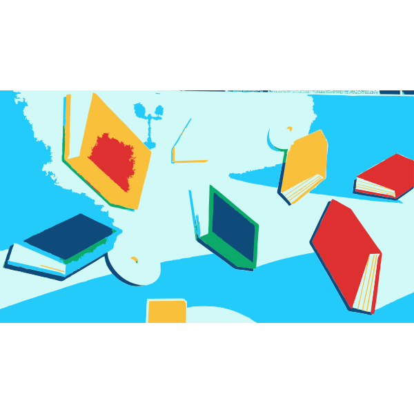 Colorful random books