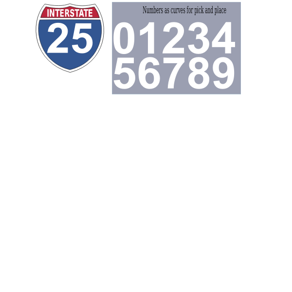 Interstate highway sign vector