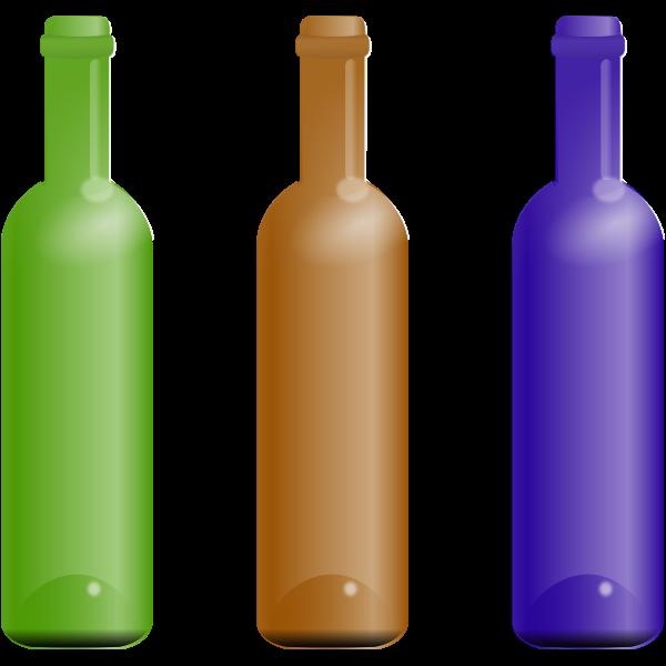 Bottles In Various Colors