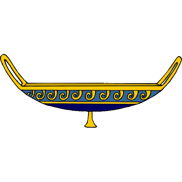 Yellow and blue chalice