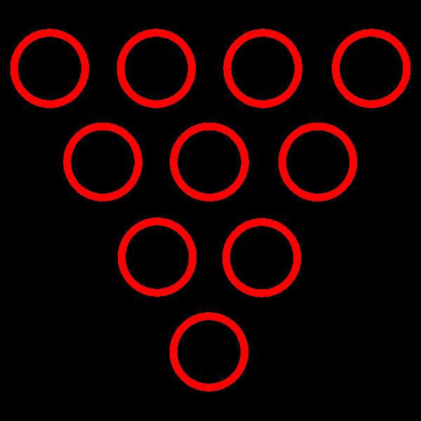 Bowling pins diagram vector image