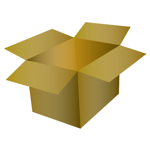 Vector image of cardboard box with a gradient
