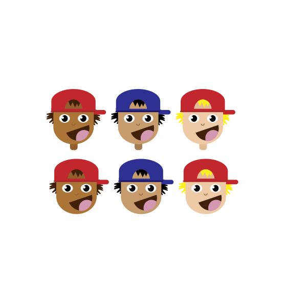Kids with caps