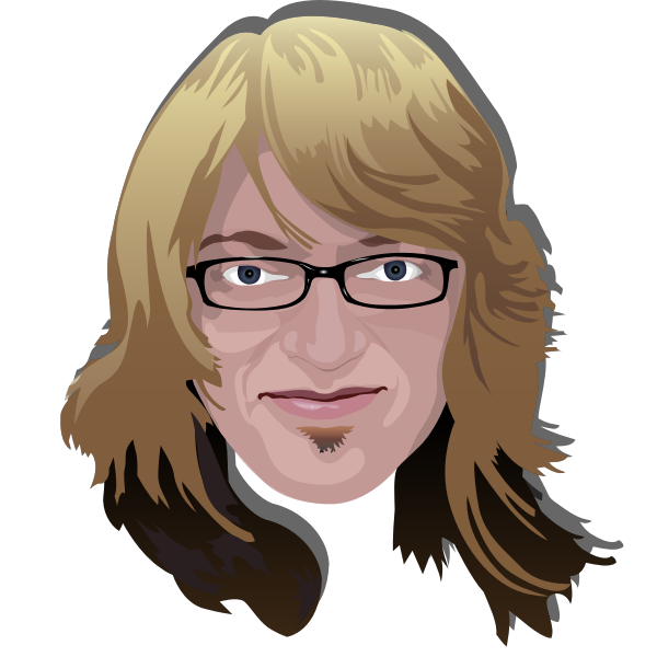 Blond man with glasses vector image