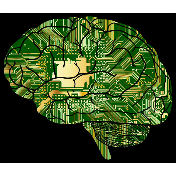 Brain Computer With Background