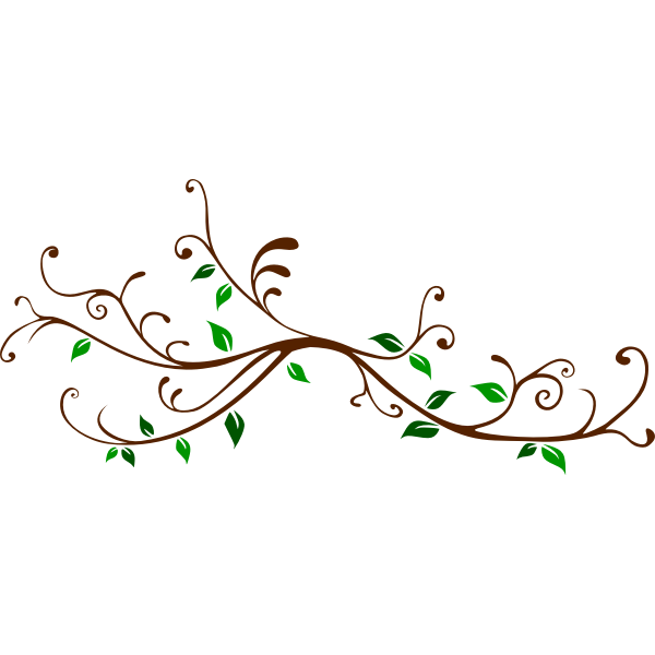 Stylized leafy branch