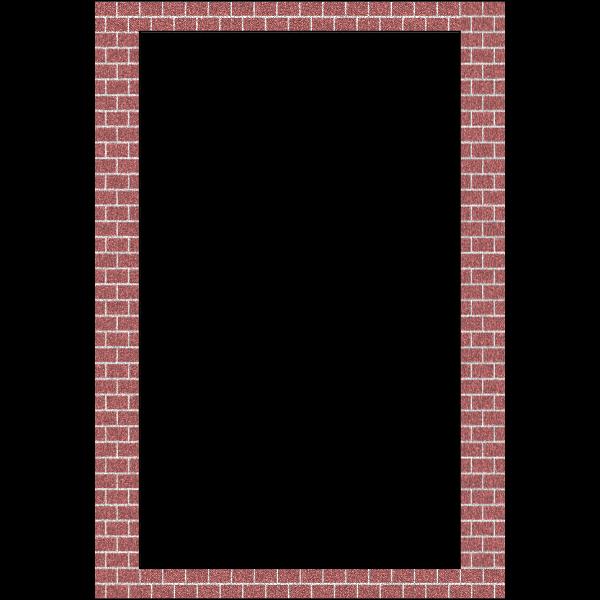 Vector drawing of layered bricks border