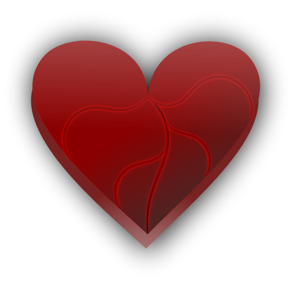 Broken heart vector clip art