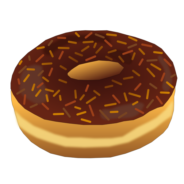 Brown donut