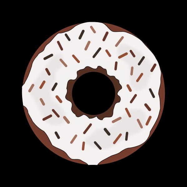 Brown donut image