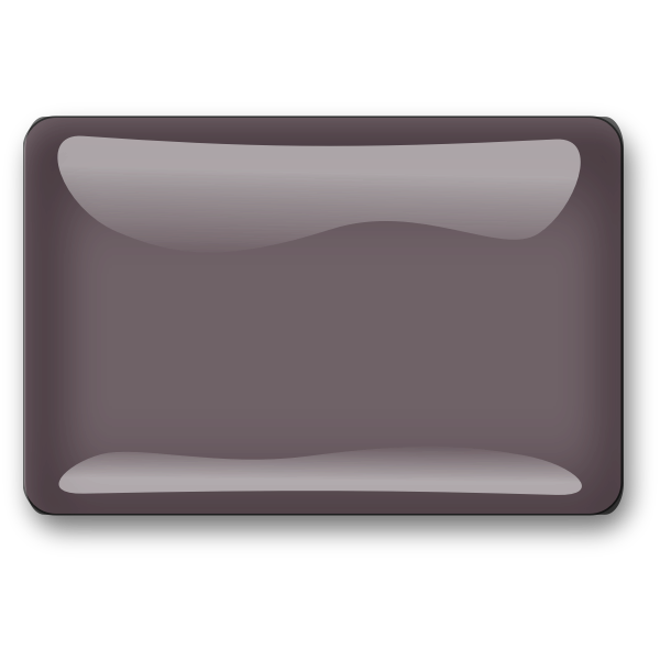 Gloss brown square button vector graphics