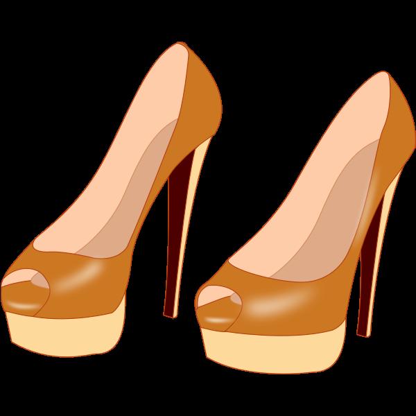 Leather stilettos