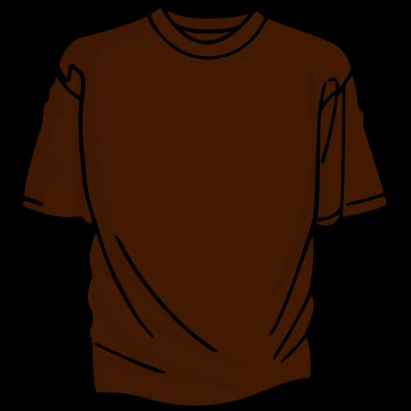 Brown t-shirt vector drawing