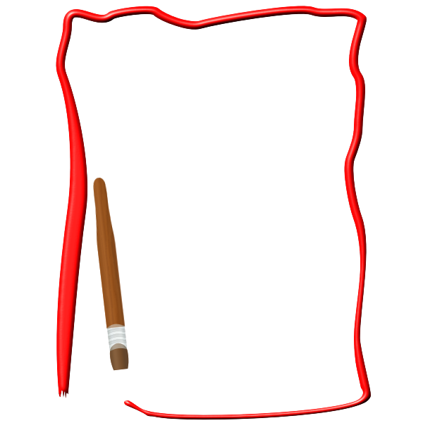 Paint border vector image