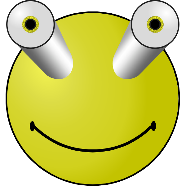 Bug-eyed smiley