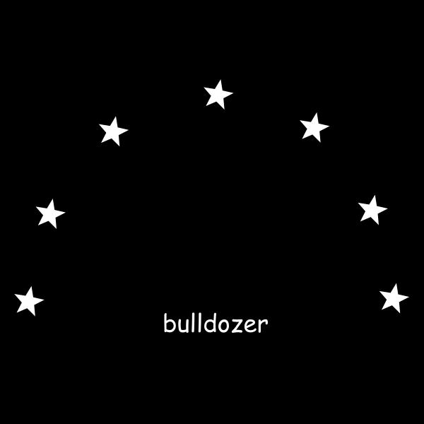 Vector drawing of bulldozer sign