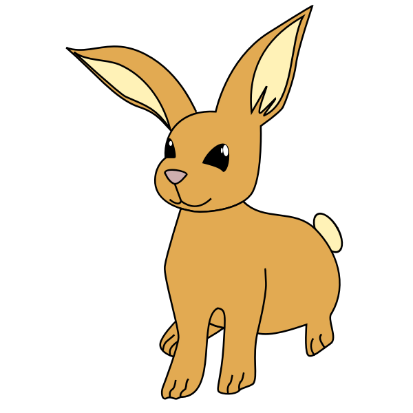Bunny with long ears vector illustration