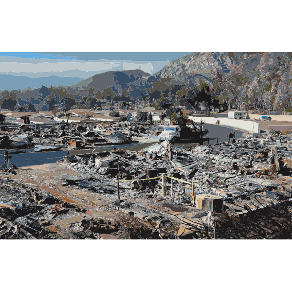 Burned mobile home neighborhood in California edit 2016052857