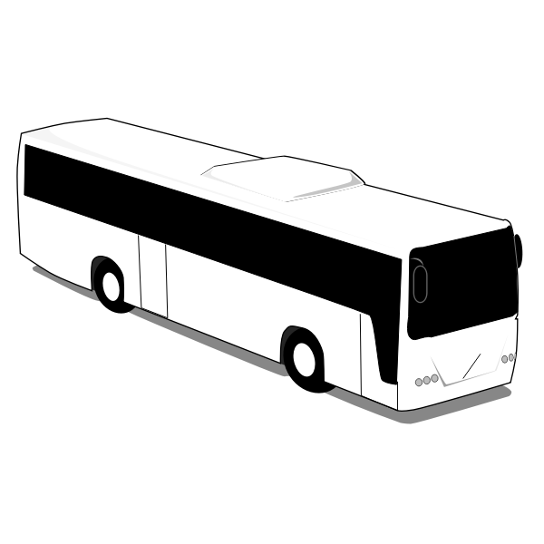 Simple white bus