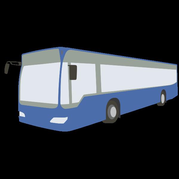Blue bus vector art